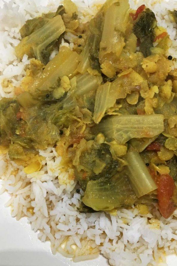 lettuce dal sambar recipe