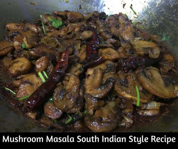 mushroom masala dry recipe