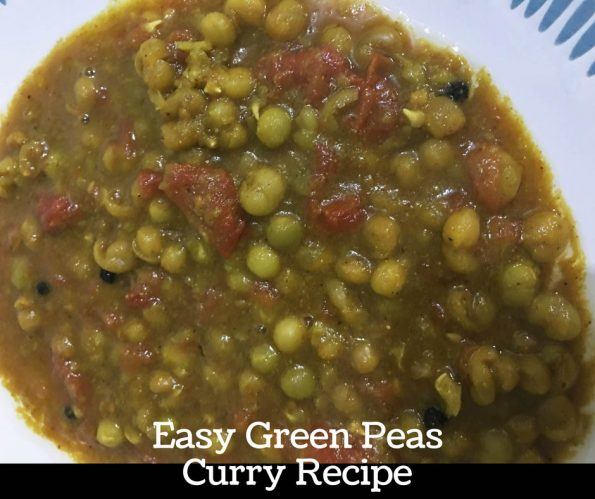 green peas curry without coconut