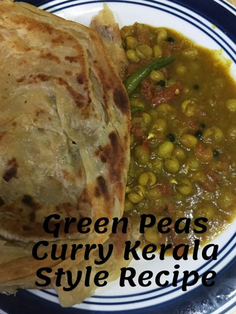 green peas curry without coconut kerala style recipe
