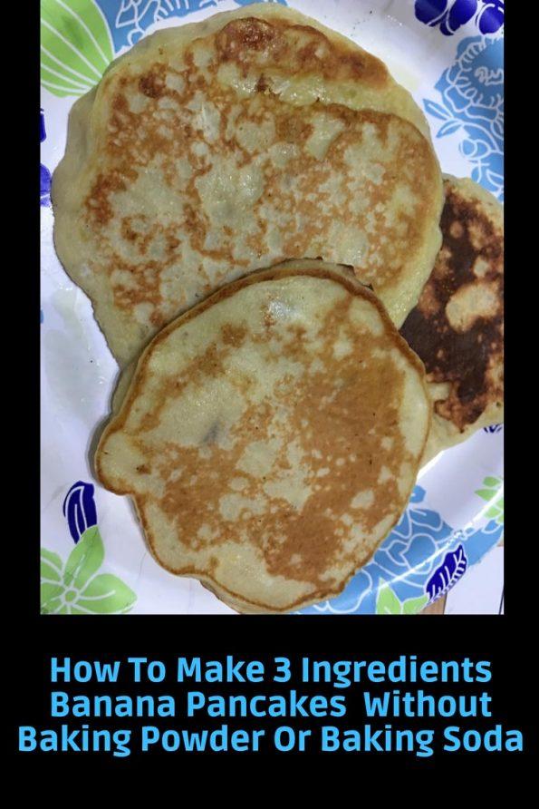 how to make 3 ingredients banana pancakes recipe