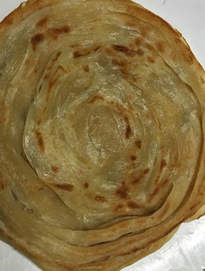 Kerala Parotta Recipe (Malabar Kerala Style Coin Paratha/Porotta Recipe) Without Eggs – South Indian Layered Flatbread Recipe