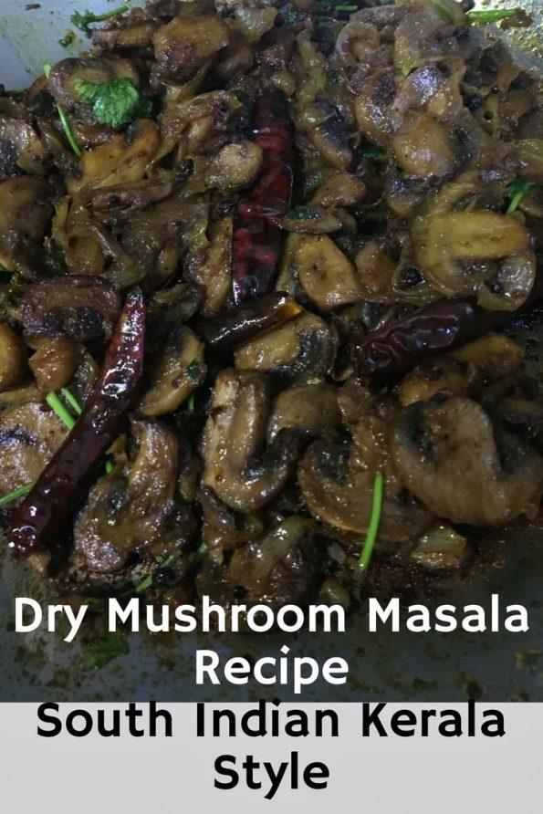 mushroom masala dry recipe kerala