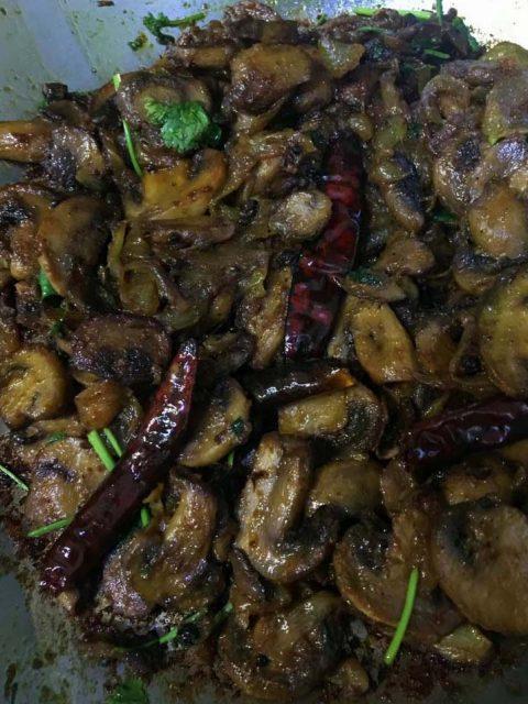 mushroom masala dry recipe kerala style