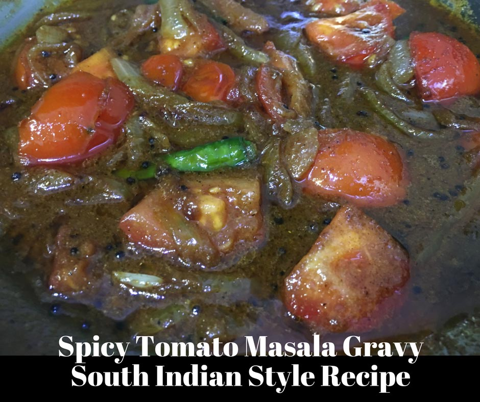 spicy tomato masala curry recipe with onions