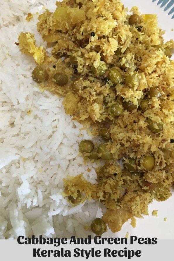 cabbage green peas recipe kerala style