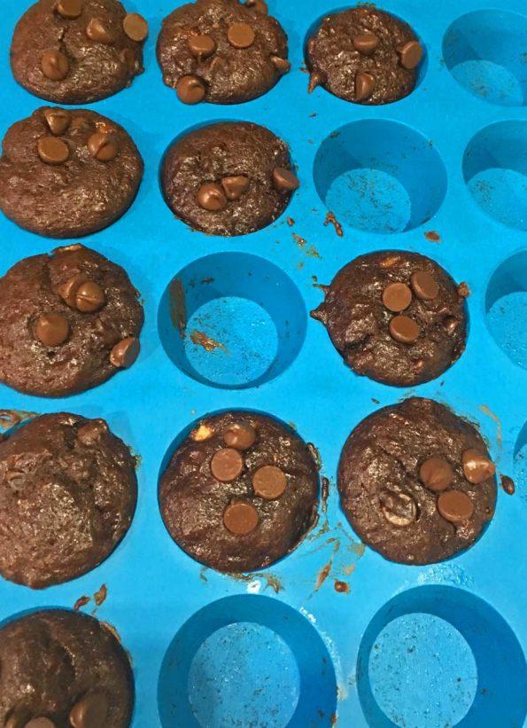 mini chocolate banana muffins recipe