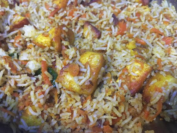 carrot paneer pulao recipe