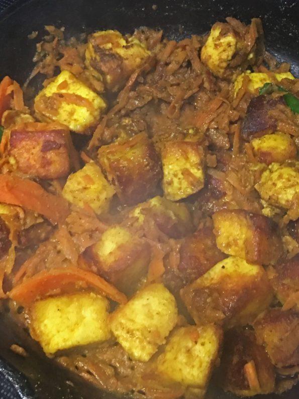 carrot paneer stir fry recipe