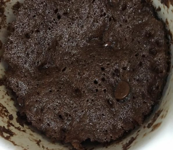 eggless chocolate mug cake microwave recipe