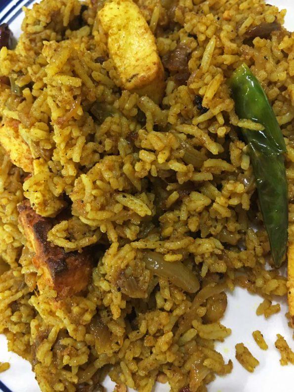 how to make paneer masala rice