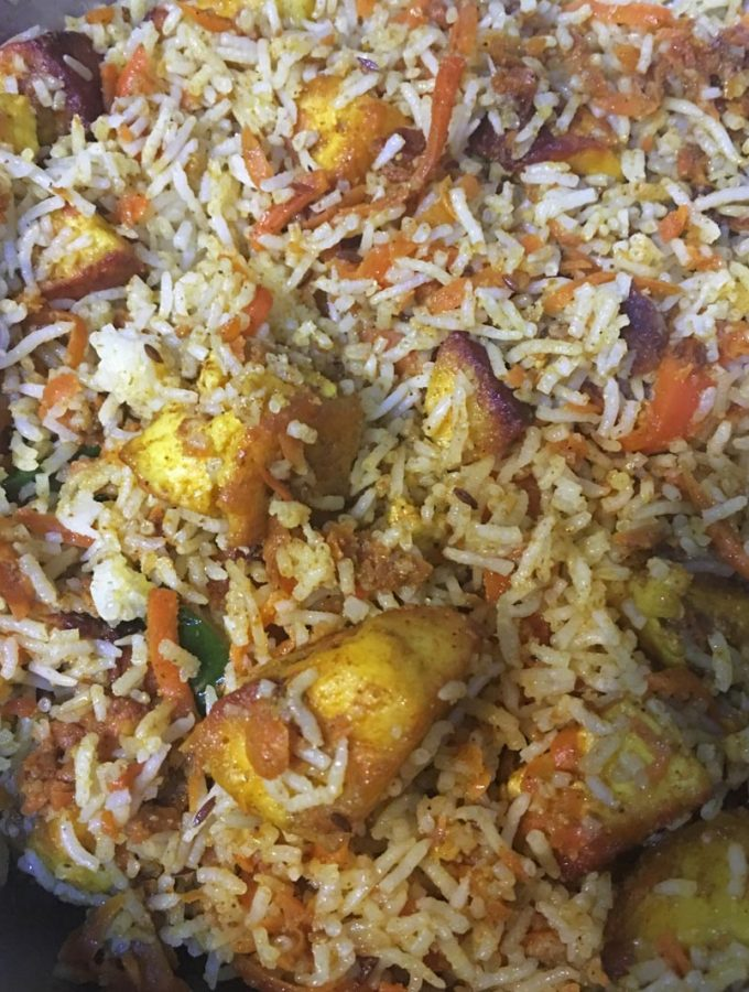 Paneer Pulao Recipe With Leftover Cooked Rice & Carrot Paneer Masala