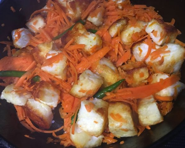 how to make paneer stir fry recipe with carrots