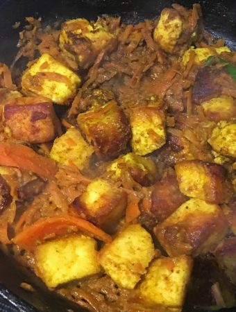 carrot paneer stir fry recipe