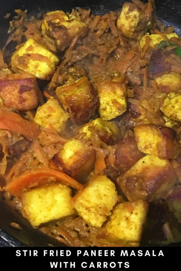 paneer stir fry recipe with carrots