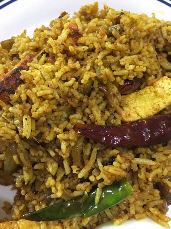 spicy paneer masala rice