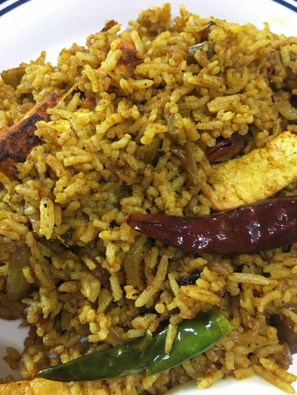 spicy paneer masala rice