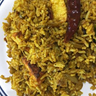 spicy paneer masala rice recipe