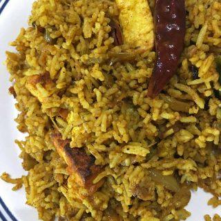 spicy paneer masala rice recipe