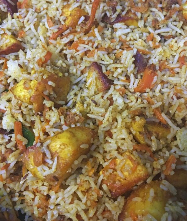 spicy paneer pulao recipe