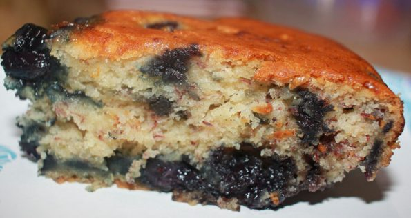 eggless blueberry banana cake recipe