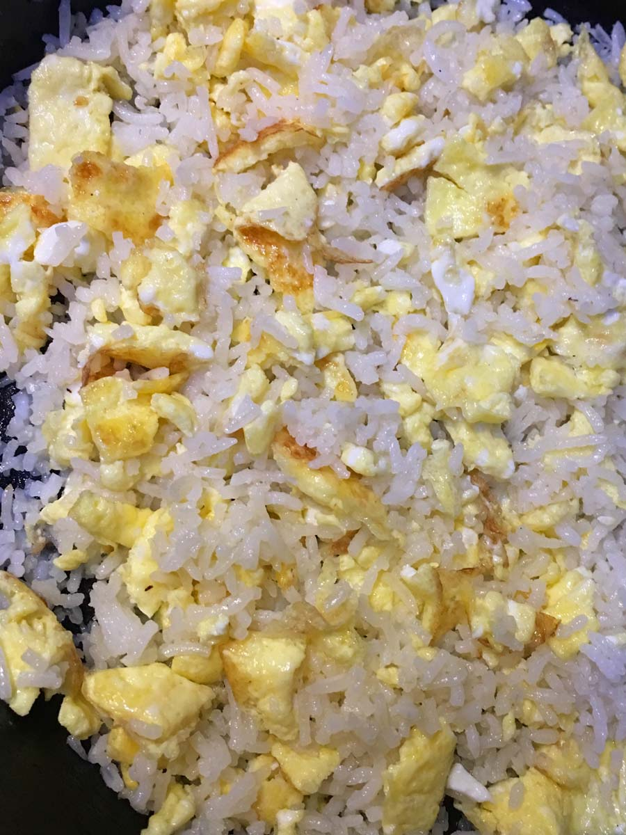 how to prepare egg fried rice without soy sauce