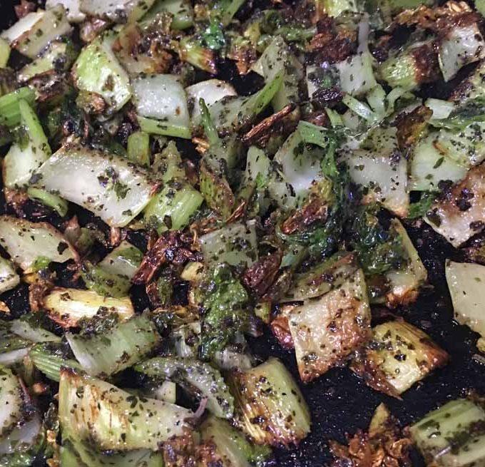 Celery Stir Fry Recipe, How To Make Crispy, Delicious Celery Stir Fry In An Iron Skillet
