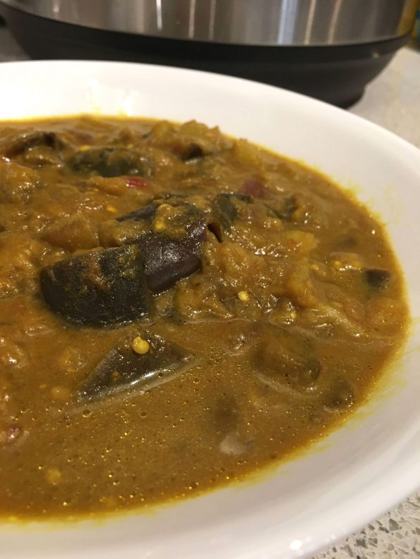 eggplant curry in instant pot
