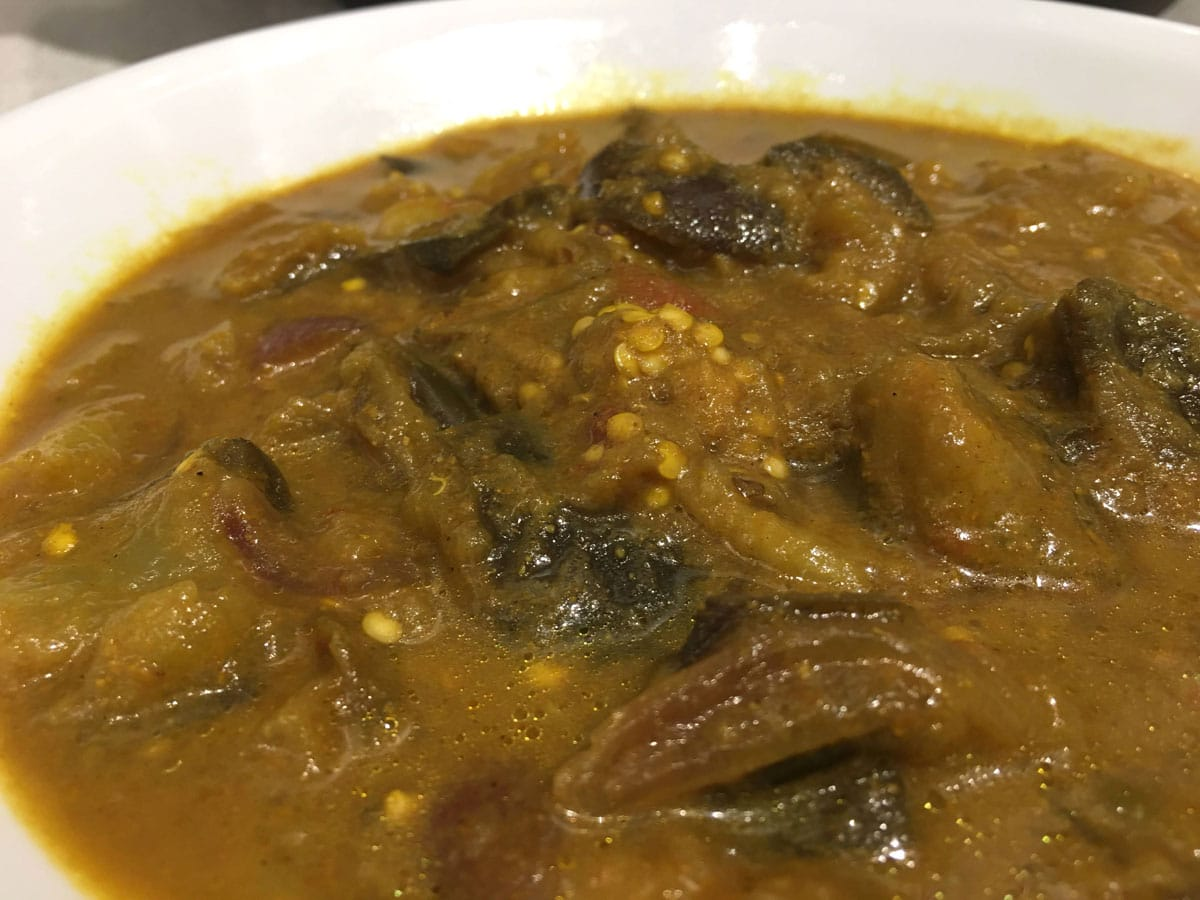 eggplant curry instant pot