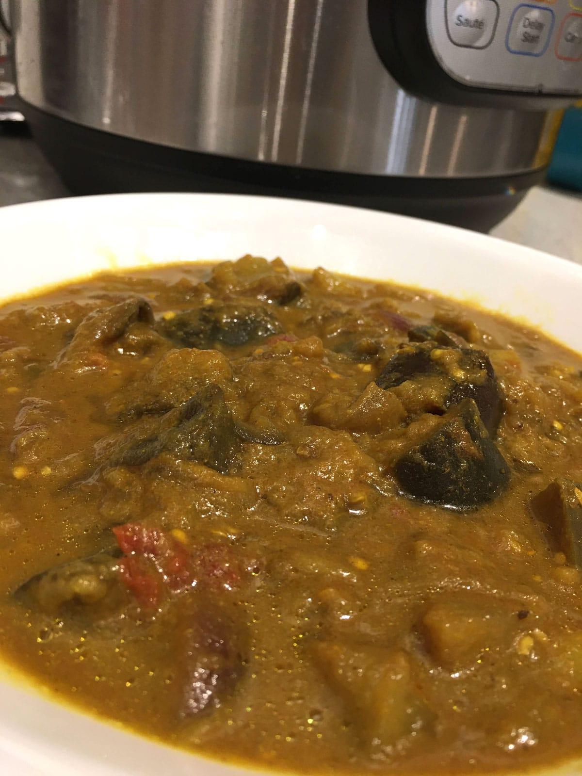 eggplant masala curry instant pot