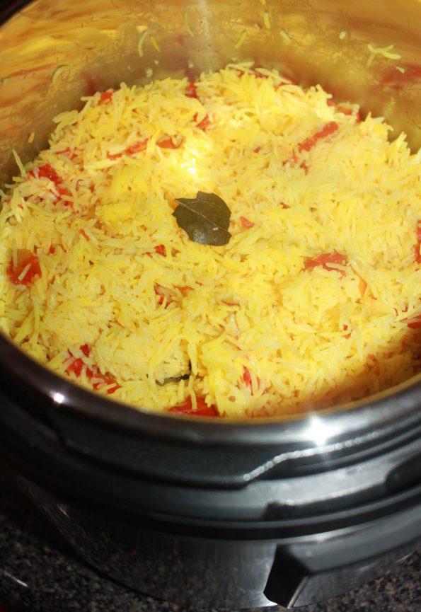 how to prepare instant pot tomato rice pilaf recipe