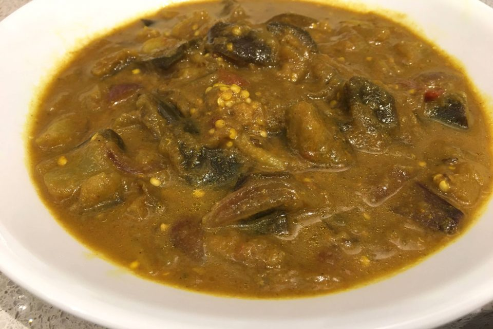 instant pot eggplant curry