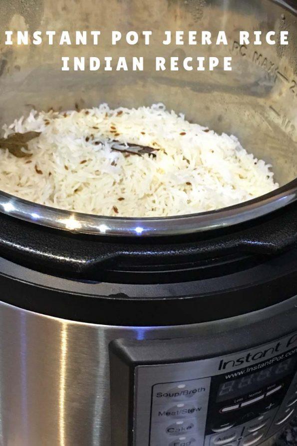 instant pot jeera rice Indian Recipe