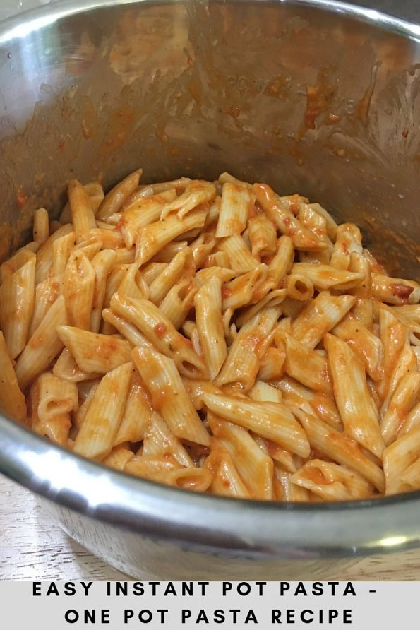instant pot one pot pasta recipe