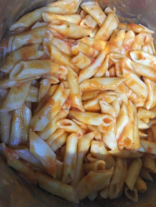 instant pot penne pasta recipe with marinara sauce
