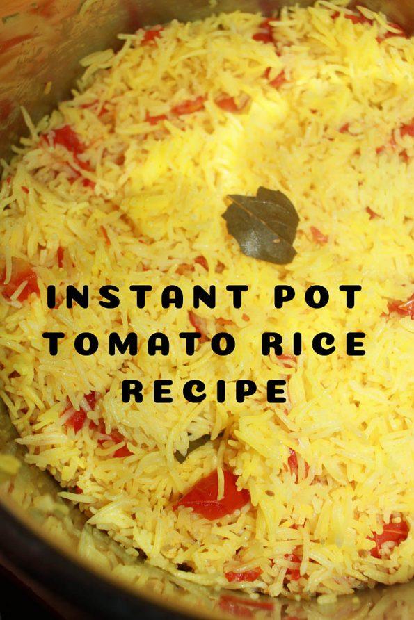 instant pot tomato rice recipe vegetarian