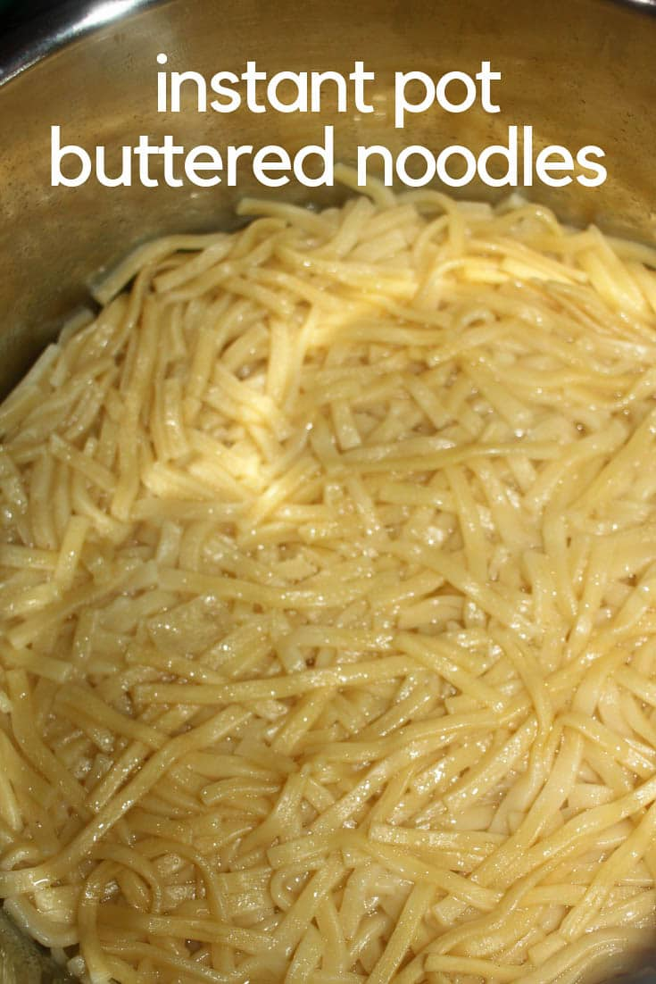 easy instant pot buttered noodles recipe