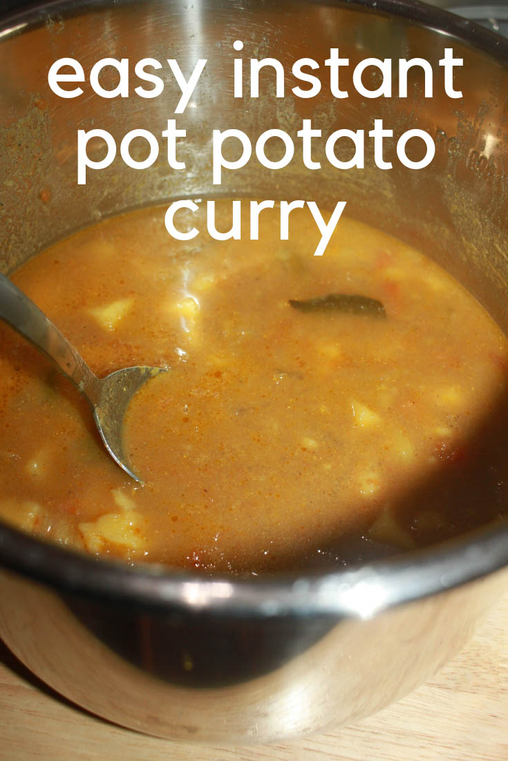 instant pot potato curry vegan recipe