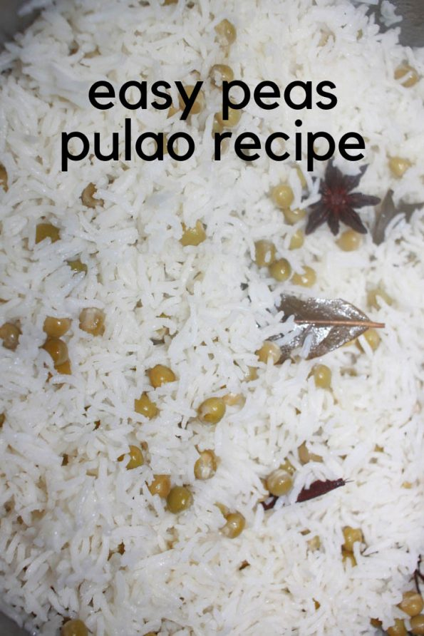 peas pulao recipe without onions