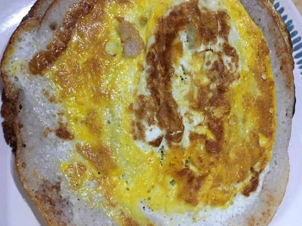 simple egg dosa recipe without vegetables