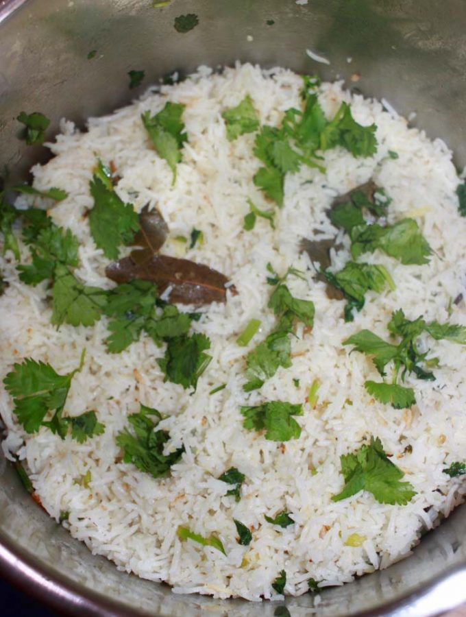 Instant Pot Cilantro Lime Rice Recipe – Easy And Flavorful Cilantro Leaves & Lemon Rice Recipe Using Instant Pot