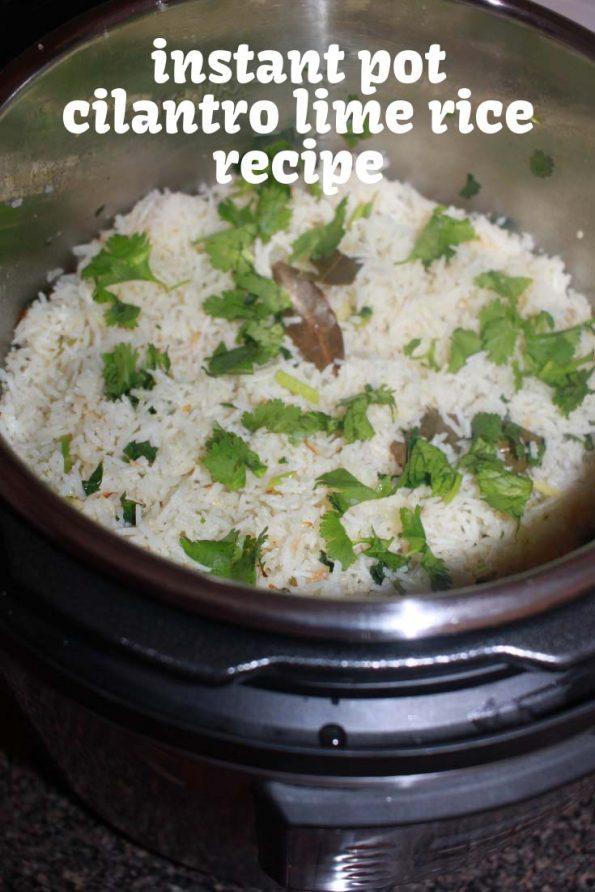 instant pot cilantro lime rice mexican