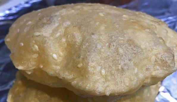 bengali luchi puri with sesame seeds