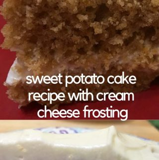 easy sweet potato cake with cream cheese frosting