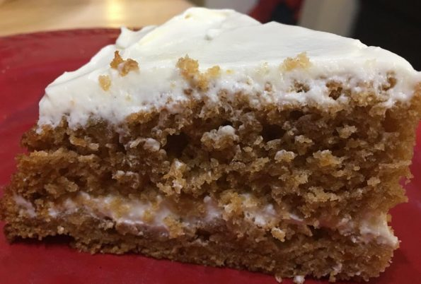 easy sweet potato cake with cream cheese frosting from scratch