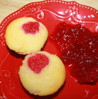 mini cornbread muffins with leftover cranberry sauce