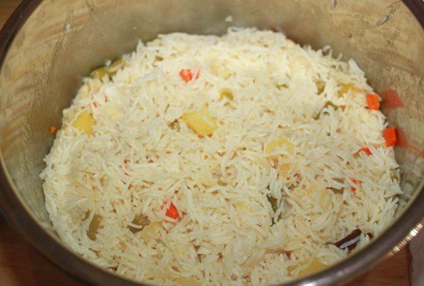 instant pot pulao recipe using mixed vegetables