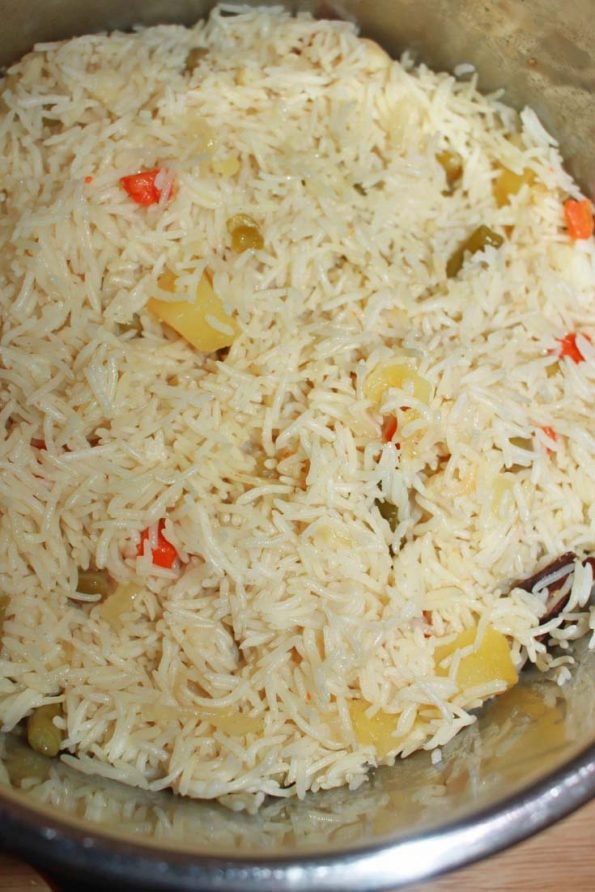 instant pot pulao recipe using veggies