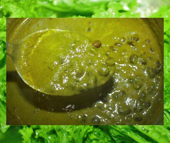 mustard greens curry recipe using leftover black beans