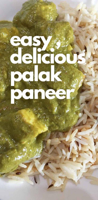 palak paneer with jeera rice